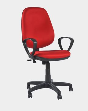 Picture of Revolving Office Workstation Chair Red