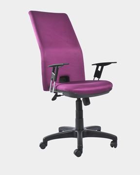 Picture of Adjustable Med Back Office Chair (Magenta)