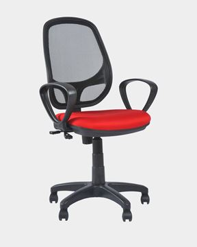 Picture of Mesh Staff Chair (Black&Red)