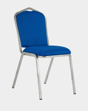 Picture of Stacking Banquet Chair Blue Fabric