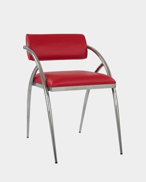 Picture of Designed Stainless Steel Cushioned Seat