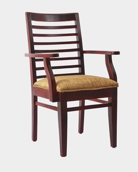 Picture of Wooden Cushion Chair With Arms
