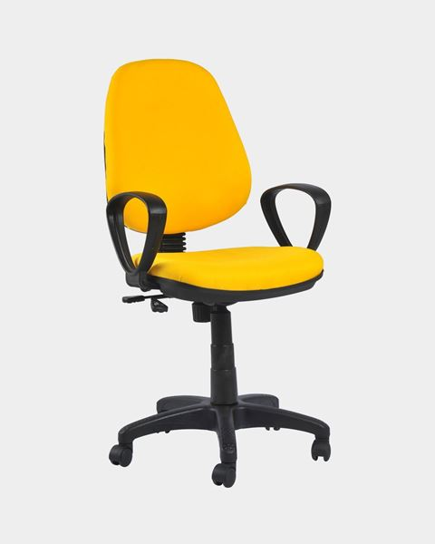 Picture of Revolving Office Workstation Chair Yellow