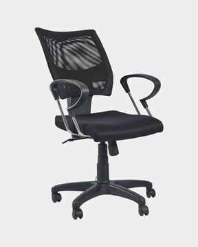 Picture of Medium Mesh Back Revolving Chair (Black)
