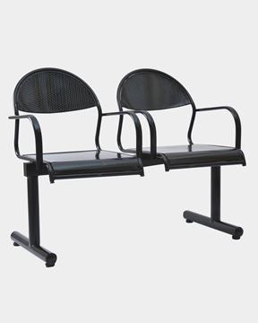 Picture of Two Seater Visitor Steel Bench