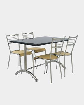 Picture of Granite Stainless Steel Table and Chair