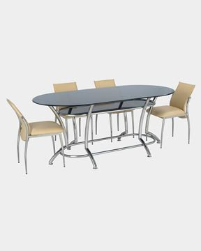 Picture of Glass Dining Table and 4 Rexiner Dining Chairs