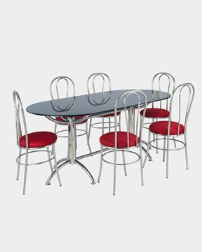 Picture of Restaurant Steel Dining Chair And Table Set