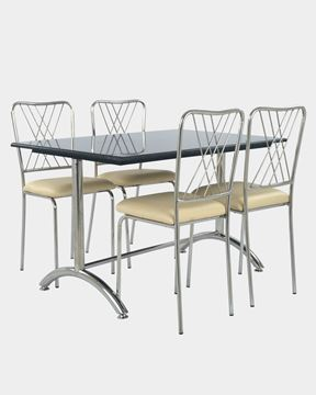 Picture of Restaurant Dining SS Rexine Chair And Granite Table Set