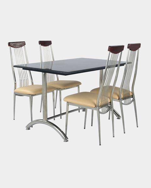 Picture of Restaurant Dining SS Top Wood Chair And Granite Table Set