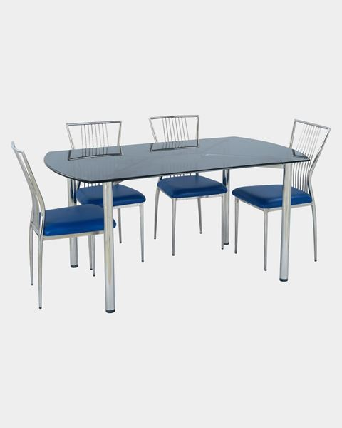 low priced 194f8 83aa1 Restaurant Steel Dining Chair And Glass Top Table Set