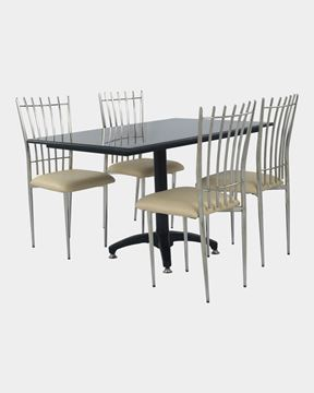 Picture of Restaurant Dining Chair And Granite Table Single Leg Set