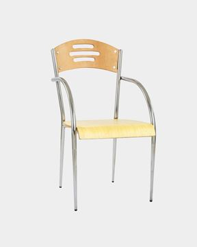Picture of Metal Restaurant/Cafe Chair Back and Seat Wood