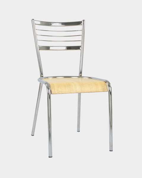 Picture of Metal Restaurant/Cafe Chair Back Steel and Seat Wood