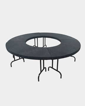 Picture of Jute Mats Round Banquet Table Folding Type (Black)