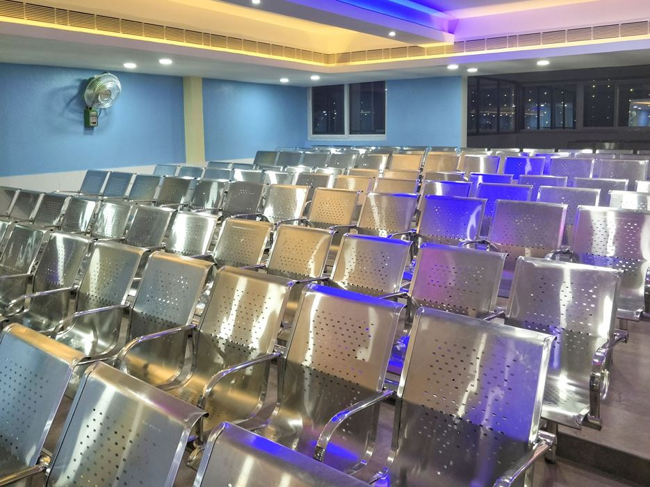 Strong and stylish Full stainless steel chairs for Auditoriums