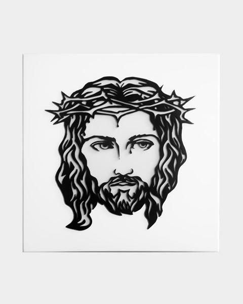 Picture of Jesus Metal Artwork 12g Mild Steel Decor
