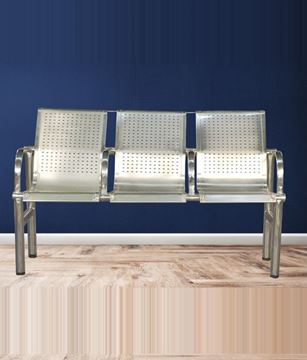 Picture of Three Seater Visitor Stainless Steel Bench