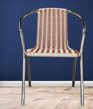 Picture of Chair With Plastic Woven Rope Seat & Back And Stainless Steel Structure