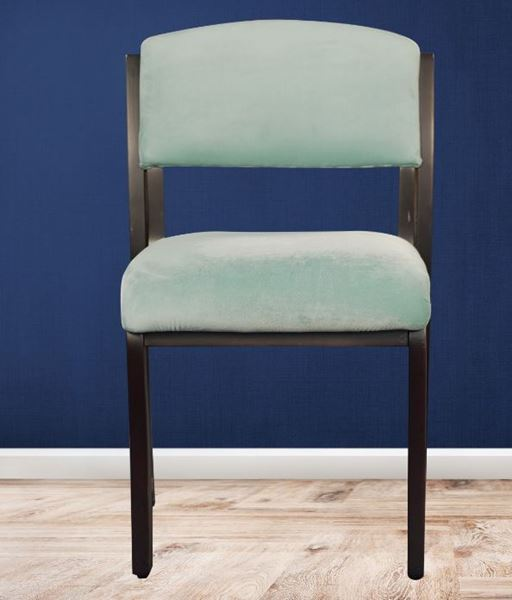 Picture of Wooden Black Chair with  Cushion