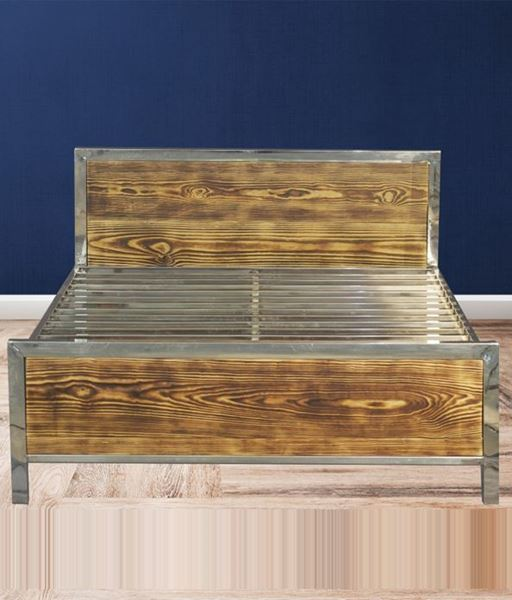 Picture of Stainless steel wooden bed