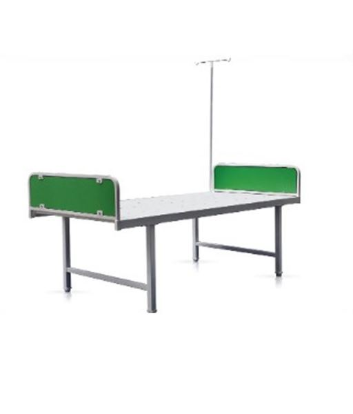 Picture of Powder Coated Medical Hospital Bed with Iv stand