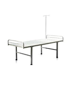 Picture of Powder Coated Medical Hospital Bed with head & leg rest and IV stand
