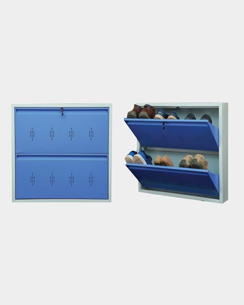 Picture of STAR CHAIRS Metal 6 Pair Shoe Rack Blue   Wall-mountable SC 3-6